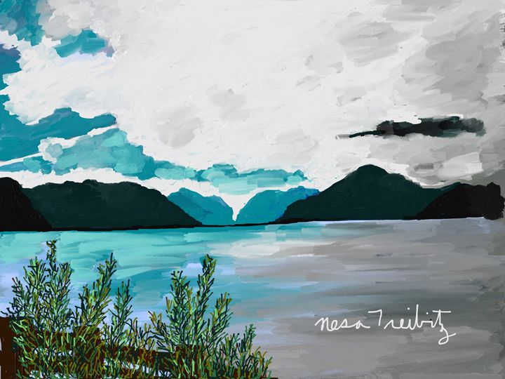 Mountains in the Distance - Nesa's Art