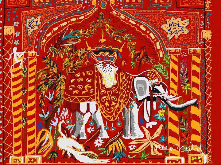 Elephant Tapestry - Nesa's Art