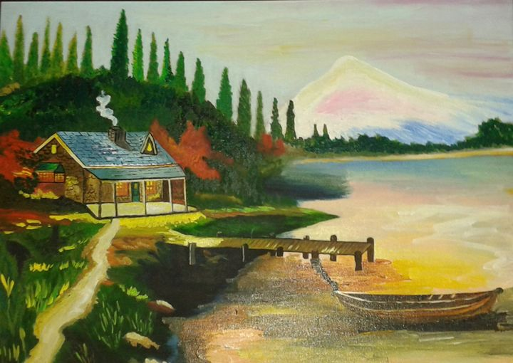 House on river bank - Neha Chine