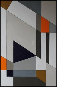 CONNECTIONS II, A Geometric Abstract - H. Wesley Wheeler