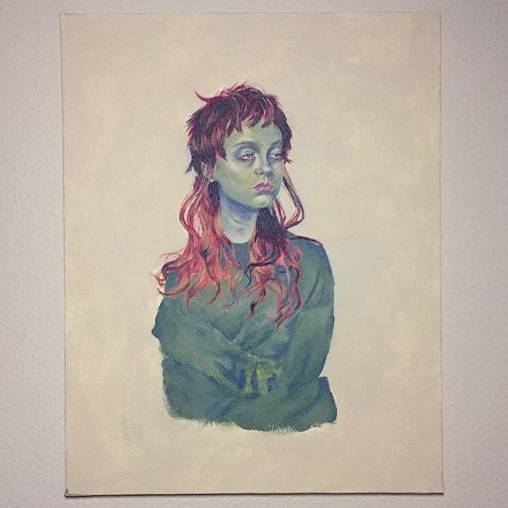 Girl With a Red Mullet - Lain