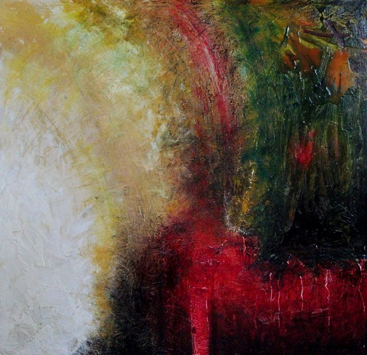 The Pouring (114cm x 114cm) - Roy Isaacs