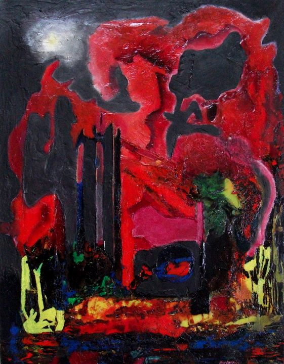 industrial night  (67cm x 52cm) - Roy Isaacs