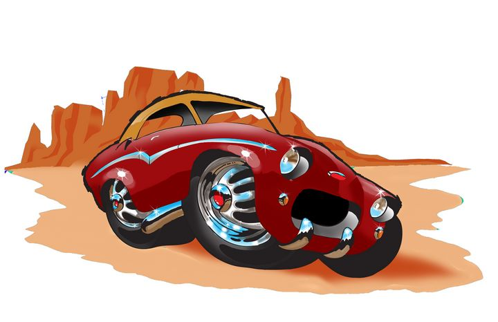 Custom Cartoon Car - RM Auto Art