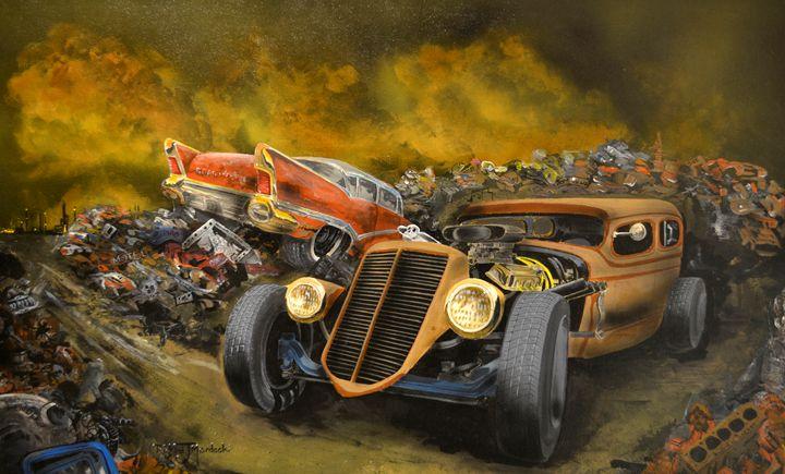 Rat Rod in Junk Yard - RM Auto Art