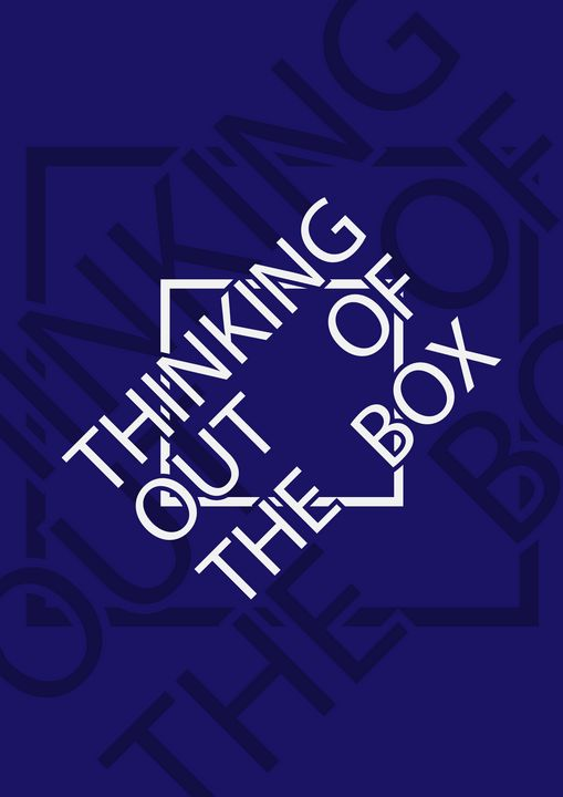 Thinking Out Of The Box Poster Art - Roizs_art