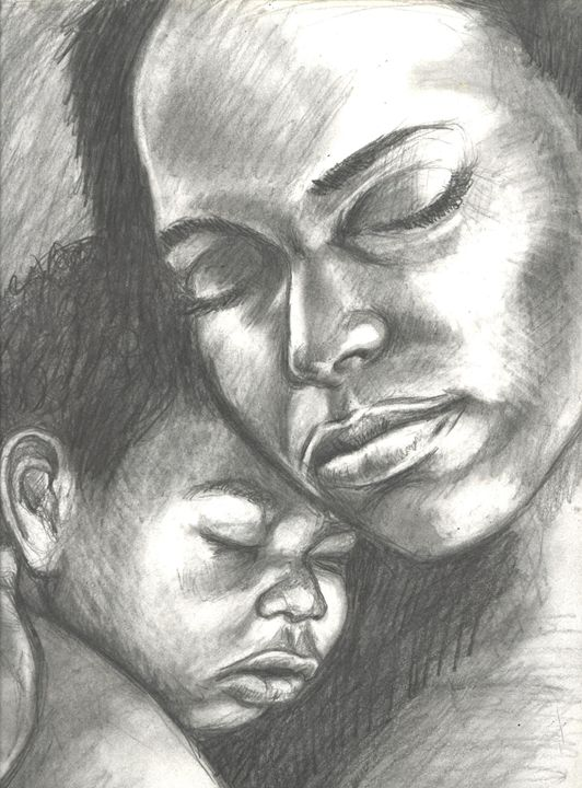 Mother and child - magic city art