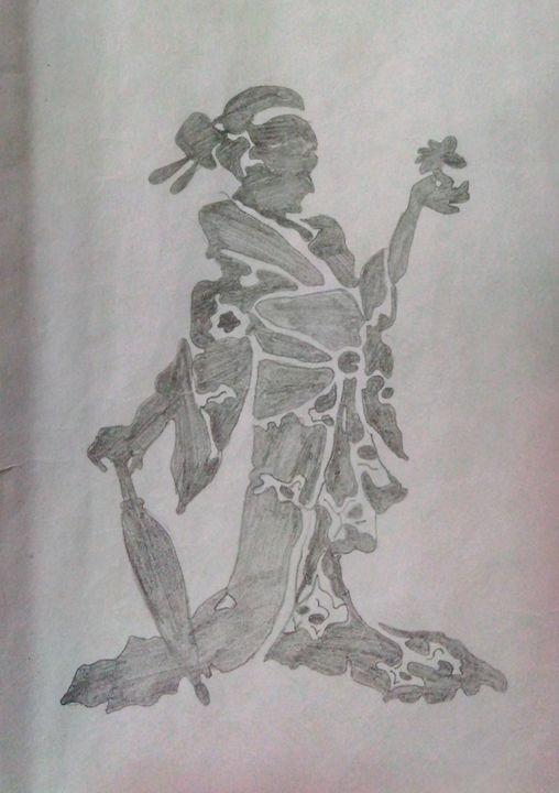 Beauty with flower and umbrella - Abhishek Arya