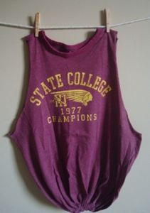 College Recycled T-shirt Tote Bag