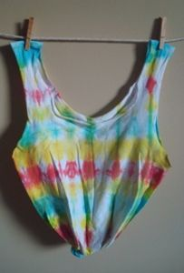Whimsy Tye Dye recycled T-shirt Tote