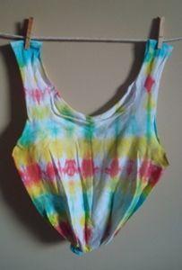 Whimsy Tye Dye recycled T-shirt Tote