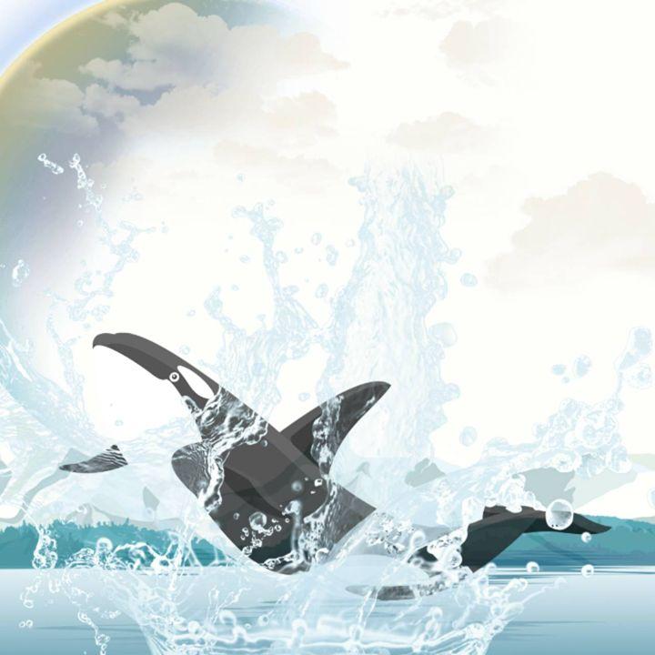 Splashing Around - Lsea's Abstract art designs