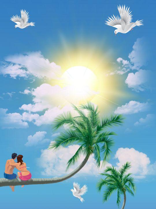 Paradise Romance - Lsea's Abstract art designs