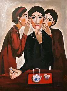 gossiping ladies