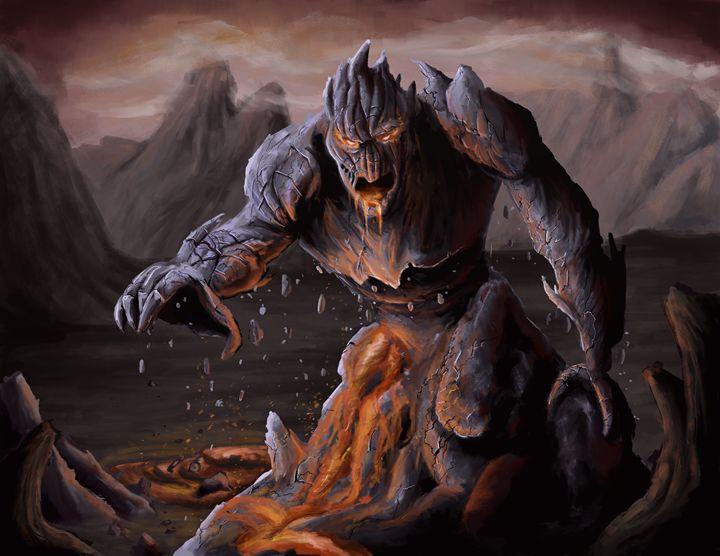 Lava Monster Andrew Chambers Digital Art Fantasy