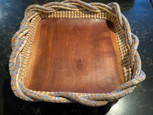 Pine needle mahogany tray top view