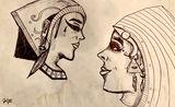 Pretty Egyptian ladies