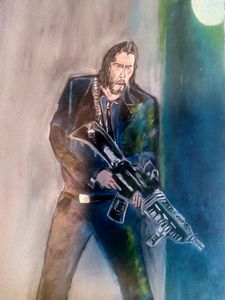 John Wick in Oils.