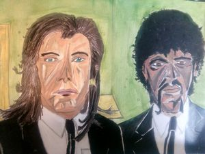 Pulp Fiction. Ink and Oil.