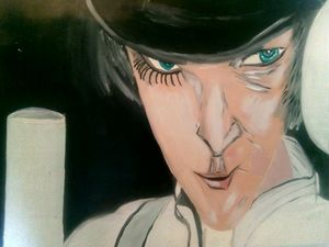 A ClockWork Orange. Oils.