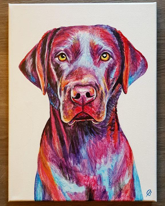 Rainbow Lab Pet Portrait - Jenna Brown Fine Art