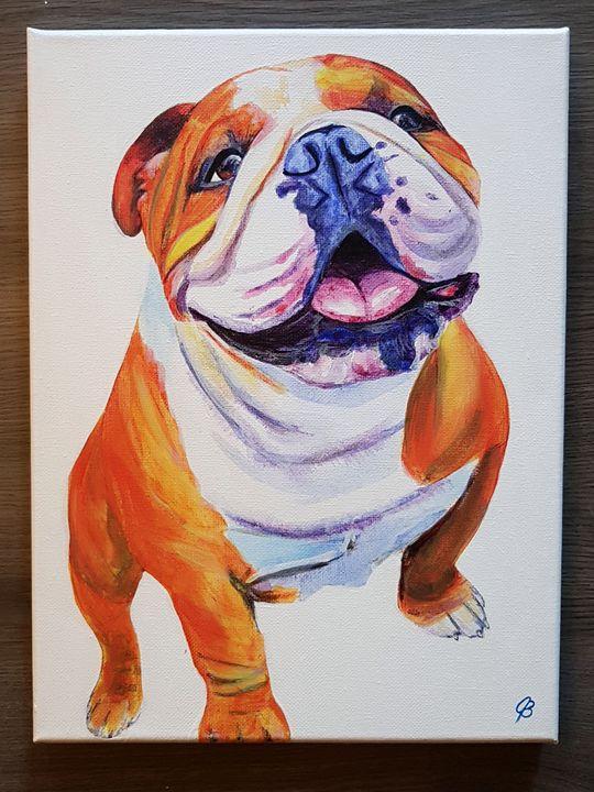 English Bulldog Painting - Jenna Brown Fine Art