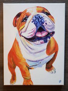 English Bulldog Painting