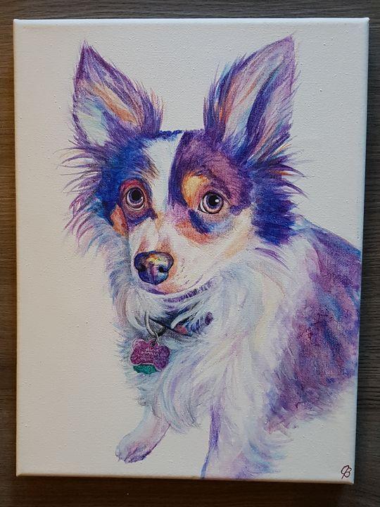 Rainbow Dog Portrait - Jenna Brown Fine Art