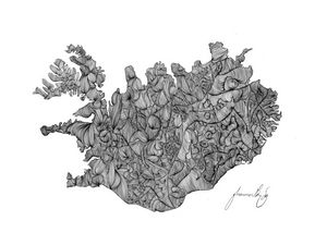 Iceland Contour Drawing