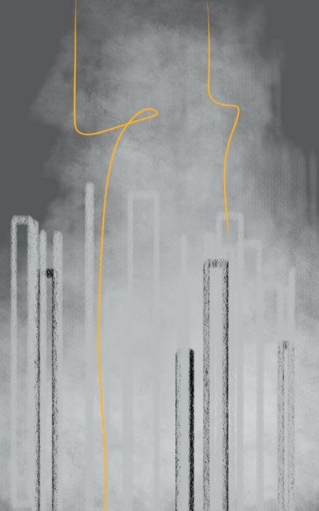 lighting between skyscrapers - Maria