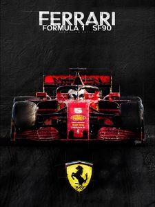 F1 Ferrari SF90 Sebastian Vettel