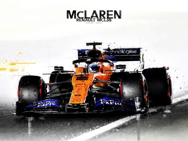 F1 McLaren Renault Carlos Sainz - STUDIOSIX.ART.PRINTS