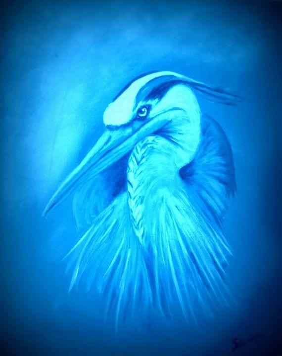 Blue Bird of the mind's eye - Sally's Art