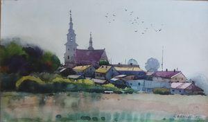 Village Lopuszno in Poland.