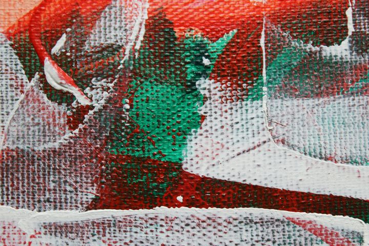 white abstract in green and red - абстрактный мир
