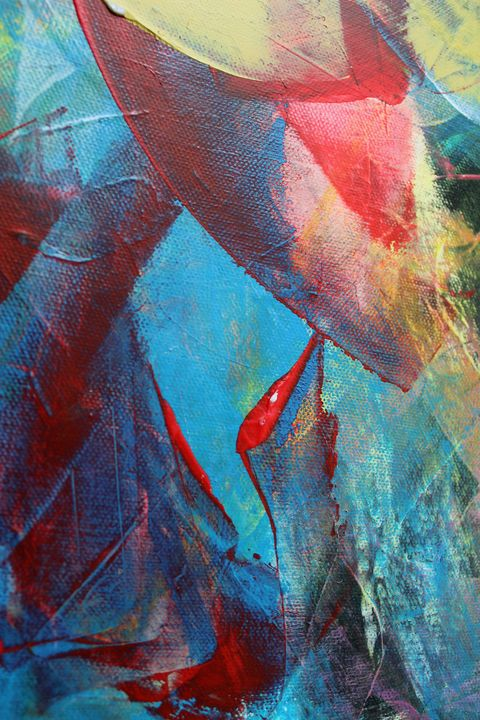 red and blue abstraction - абстрактный мир