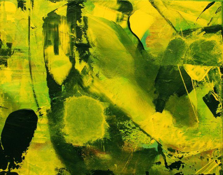 abstract 1 yellow-black - абстрактный мир