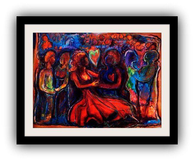 The Red dress - Michael Wayne fine art