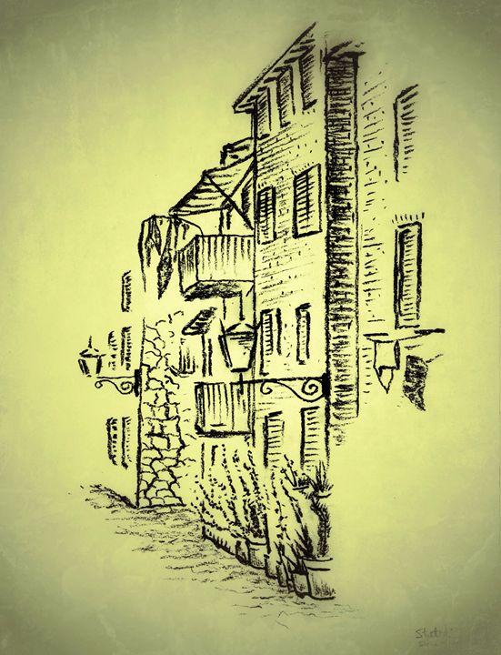Streetscape de Toscana - Stuart's Art Gallery