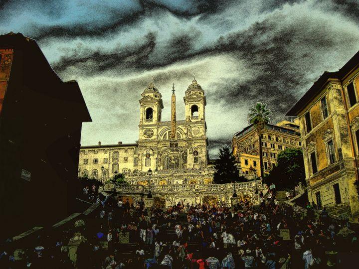 Roma,scalinate di piazza di Spagna - Gianantonio Marino Zago