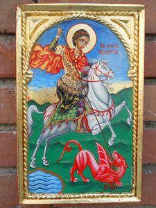 Saint George slayng the dragon