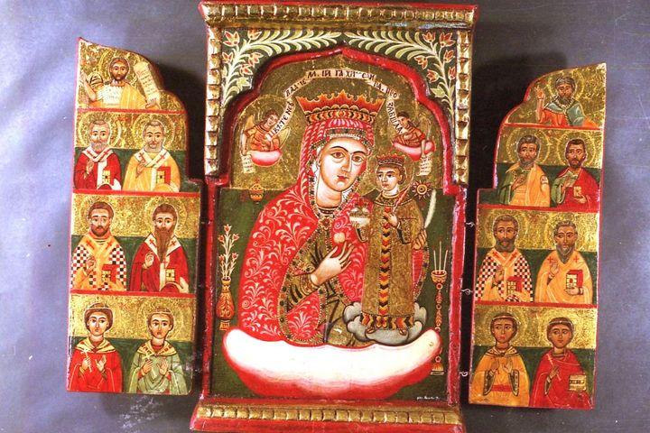 Godmother unfading rose - Orthodox icons