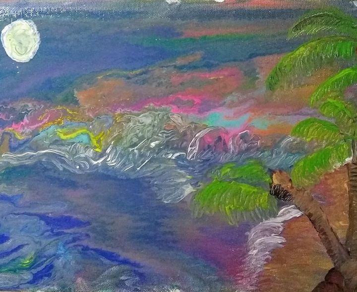 moonlit beach - Free~2~B~Me