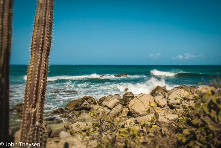 Waves hitting Rocks - Aruba Scenes
