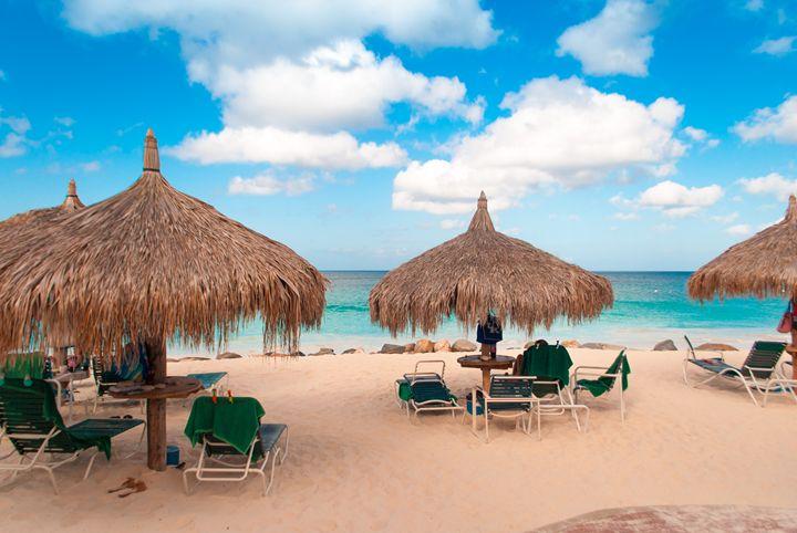 Amazing Beach Scene - Aruba Scenes