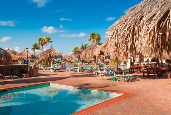 Aruba Beach Club pool and ocean - Aruba Scenes