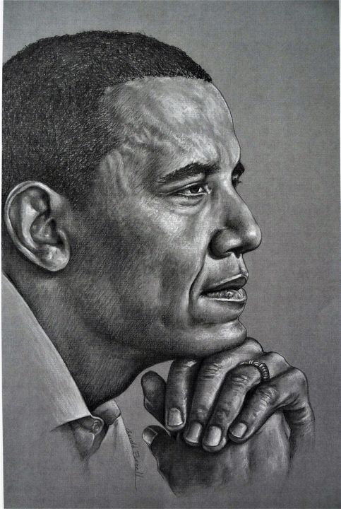 Portrait of President Obama - Gerald Purnell Gallery