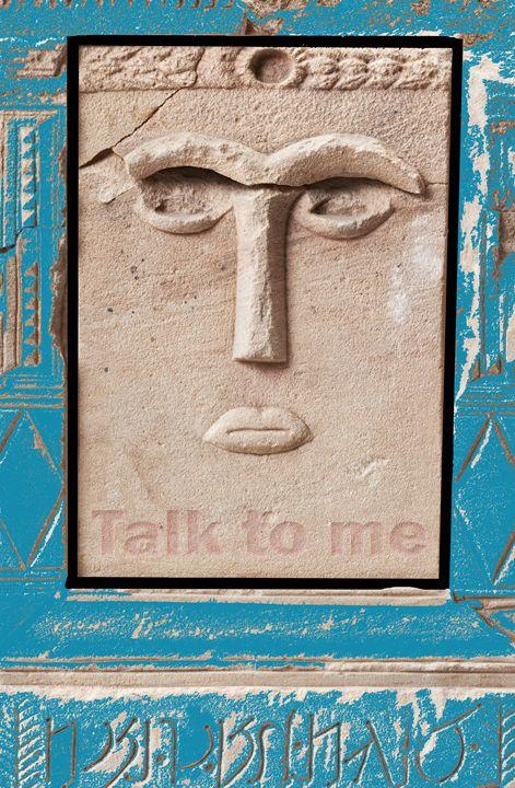 Talk to me (Ancient sculpture ) - Beyondartandesign