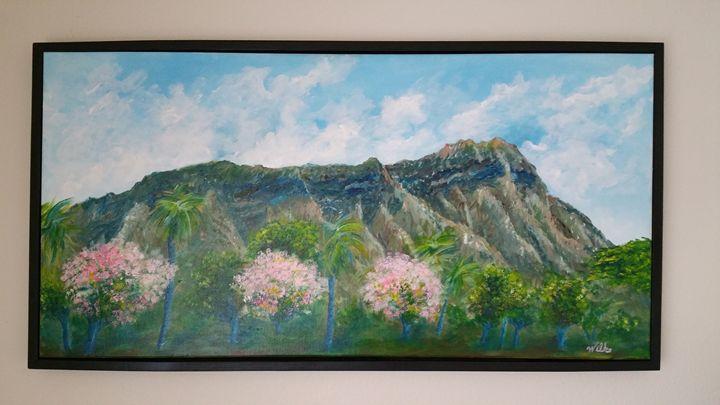 Diamond Head in bloom - Brad Wilke Fine Arts