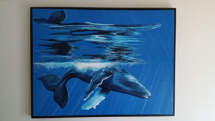 Humpback reflections - Brad Wilke Fine Arts